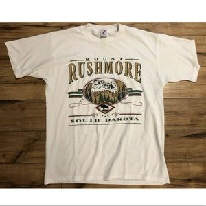 VTG 90s Mount Rushmore Single Stitch Shirt Large